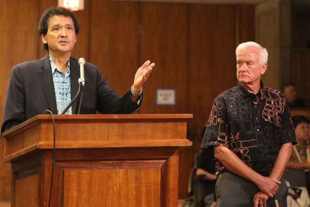 WAM committee questions Honolulu City Council Chair Ron Menor and Mayor Caldwell.