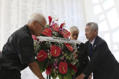 Kin Of Fallen Japanese Soldiers Pay Respects At Pearl Harbor