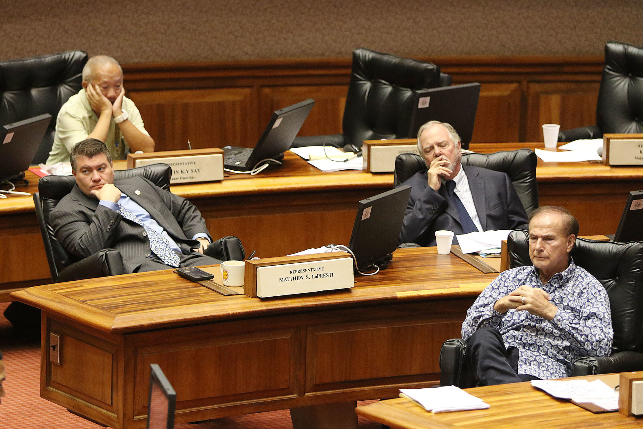 Representatives at 130pm listening to colleagues on the last day of special session.