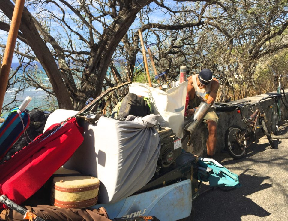 Homeless Swept From Perches Atop Diamond Head Cliffs