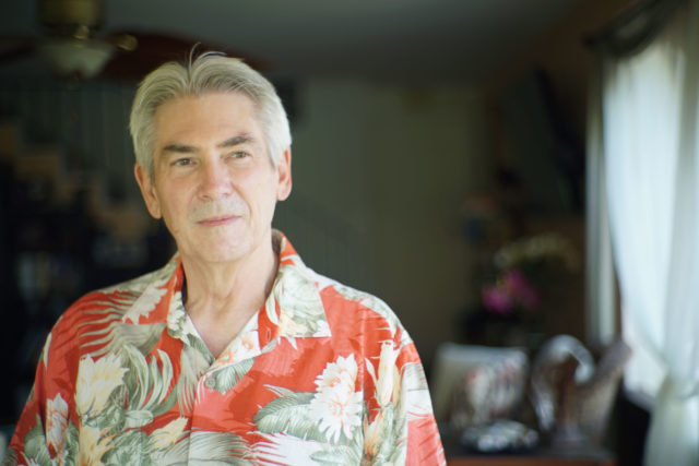 Mark Mitchell portrait at his residence located in Kaneohe.
