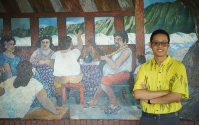 Zachary Espino Waimanalo portrait at Waiamanalo Elementary school.