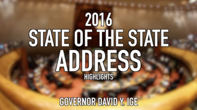 VIDEO: Hawaii's 2016 State of the State