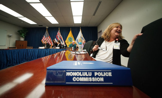 HPD Police Commission meeting held at HPD headquarters.