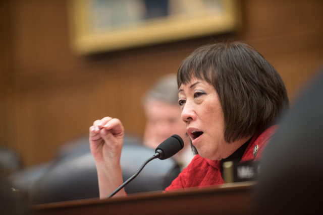 U.S. Rep. Colleen Hanabusa questions senior military leaders during a House Armed Services Committee hearing on Capitol Hill, March 7, 2017. U.S. Air Force Gen. Selva, Vice Chairman of the Joint Chiefs of Staff, testified alongside U.S. Air Force Gen. John E. Hyten, commander of U.S. Strategic Command; U.S. Navy Adm. Bill Moran, Vice Chief of Naval Operations; and U.S. Air Force Vice Chief of Staff Gen. Stephen Wilson. They spoke about the continuing relevance of U.S. nuclear forces for our national security and the steps the Joint Force is taking to modernize and replace them. He also stated that U.S. weapons, delivery systems, the infrastructure that supports them, and the personnel who operate, monitor, and maintain them are prepared today to respond to any contingency. (DoD Photo by U.S. Army Sgt. James K. McCann)