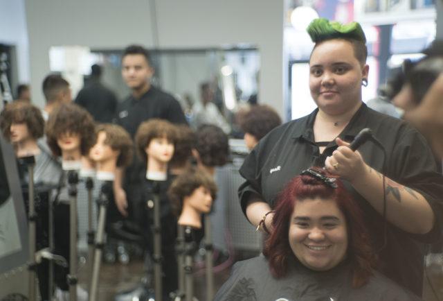 Malia Kaukukukui-Palisbo Hair stylist school. DVR related story for Suevon.