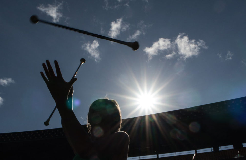 Photo Essay: The UH Baton Twirler