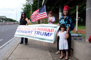 Trump's Hawaii Visit Inspires Supporters, But More Opponents