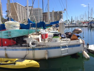 Denby Fawcett: Sweeping The Boat People Of Ala Wai Harbor