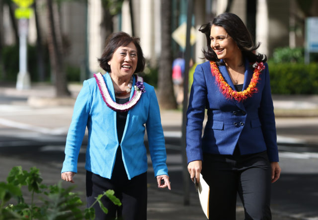 Congresswoman Tulsi Gabbard endorses Hanabusa for Governor.