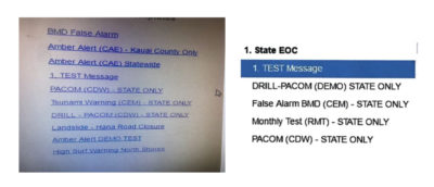 Hawaii Distributed Phony Image Of Missile Warning Screen