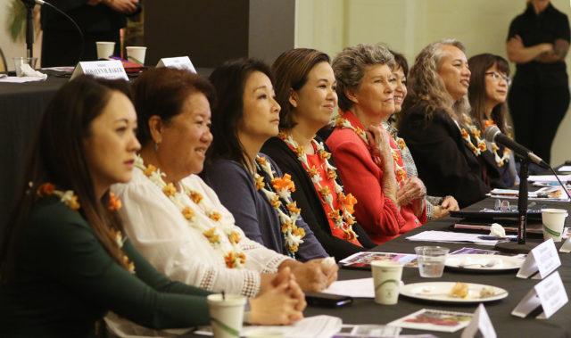 Hawaii State Womens Legislative Caucus breakfast 2018 held at the YWCA.