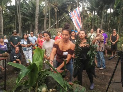 Hundreds Turn Out To Back Hawaiian Occupiers Of Famed Coco Palms Site