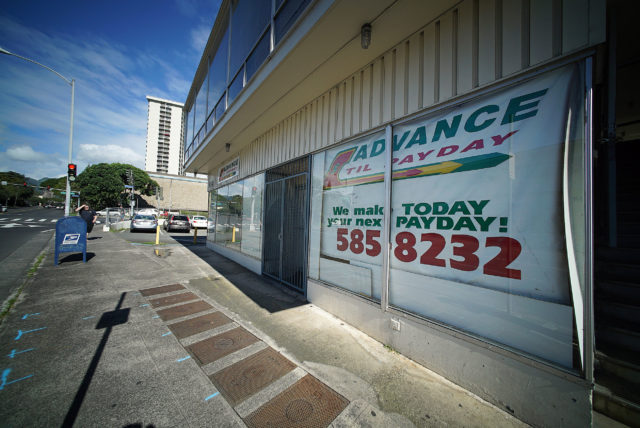 Advance til Payday loan shop Nuuanu Avenue.