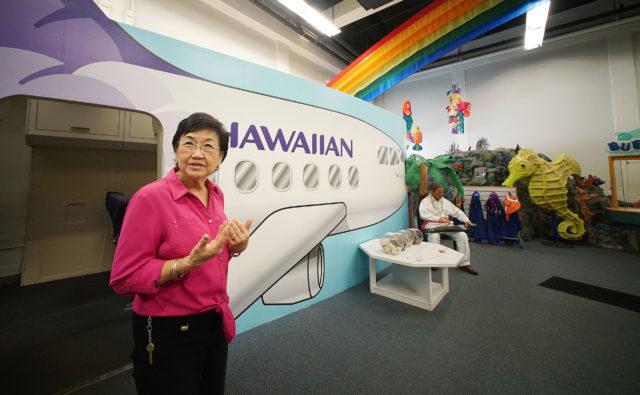 Chair of the Board Hawaii Children's Discovery Center, Loretta Yajima.