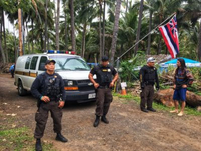 Authorities Oust Protesters From Coco Palms Resort Land
