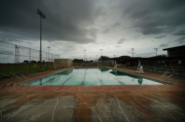 Waialua District park swimming pool.