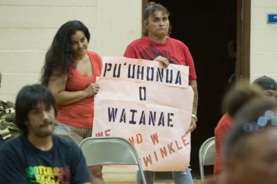 Community Vents Frustration Over State's Mixed Signals On Waianae Camp