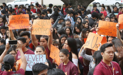 Hawaii Students Join Walkouts In Wake Of School Shootings