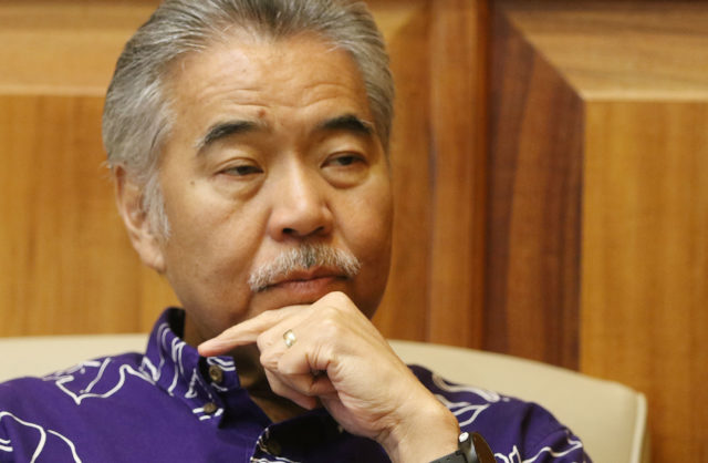 Gov David Ige speaks about the people that live near the Waianae Boat Harbor.