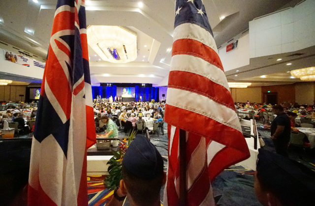2018 Hawaii Democratic Convention wide Hilton Waikaloa ballroom.