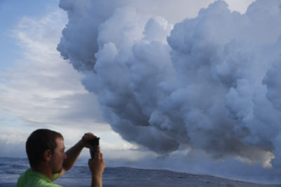 When The Lava Meets The Sea: A Toxic Cloud