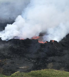 Lava Flow Enters Geothermal Plant Property