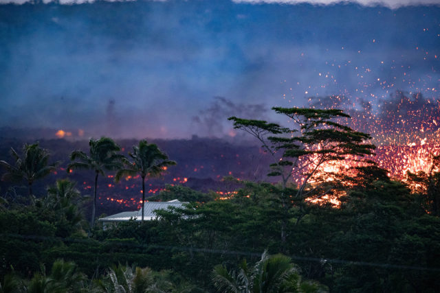 Lava has destroyed more than 30 structures mainly houses in the Lower Puna