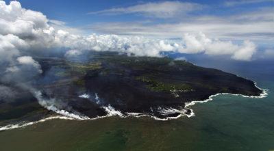 New Coastline Emerges As Kilauea Pumps More Lava To The Sea