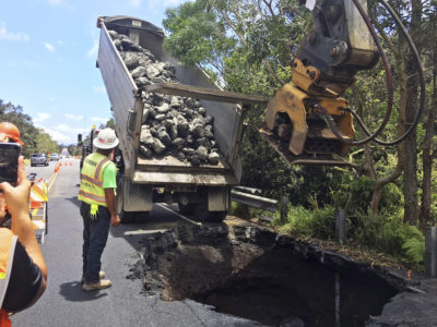 Road Damage From Earthquakes Is Latest Volcano Peril