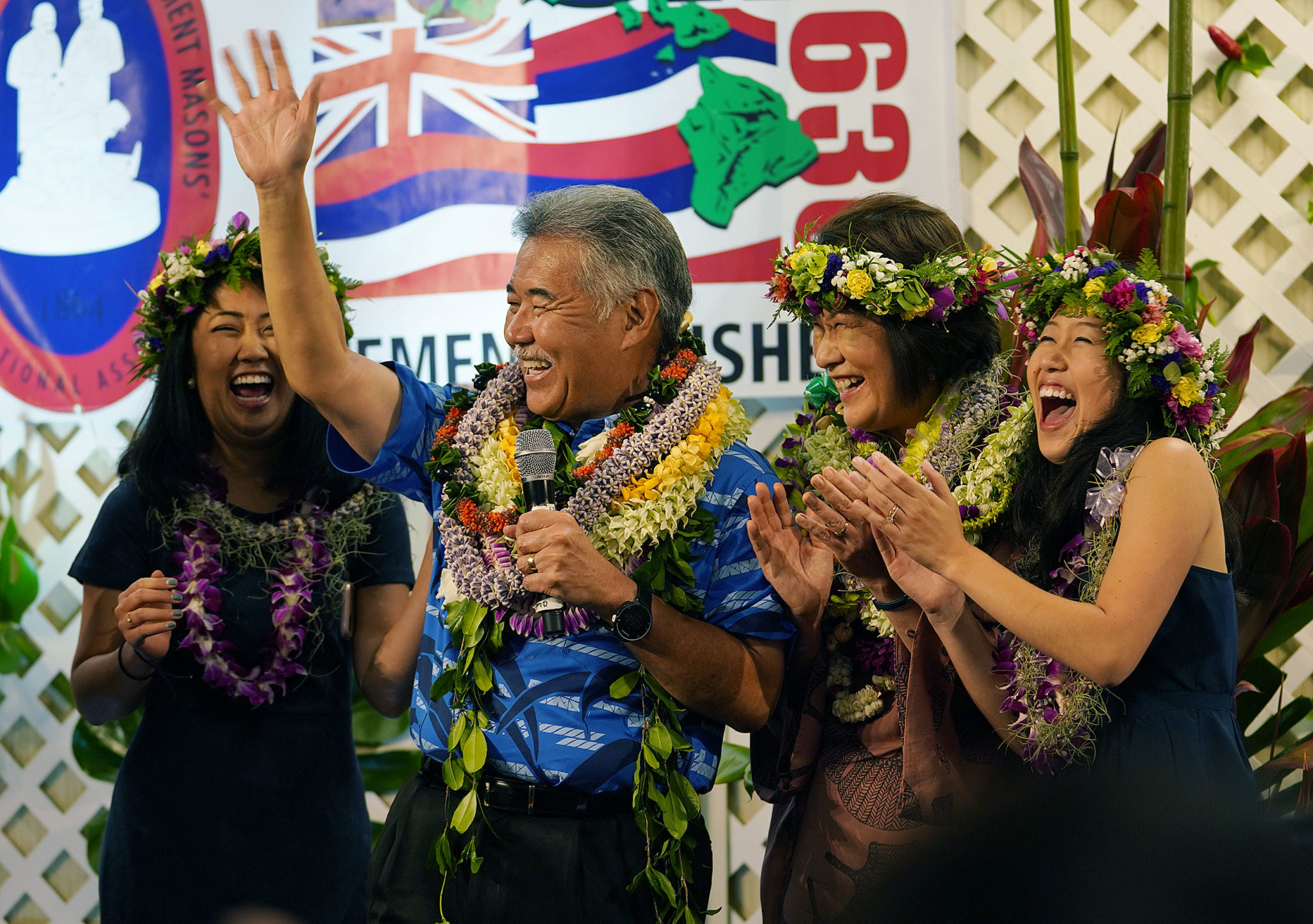 <p>Ige and his family celebrate a primary win that seemed highly unlikely a few months ago.</p>