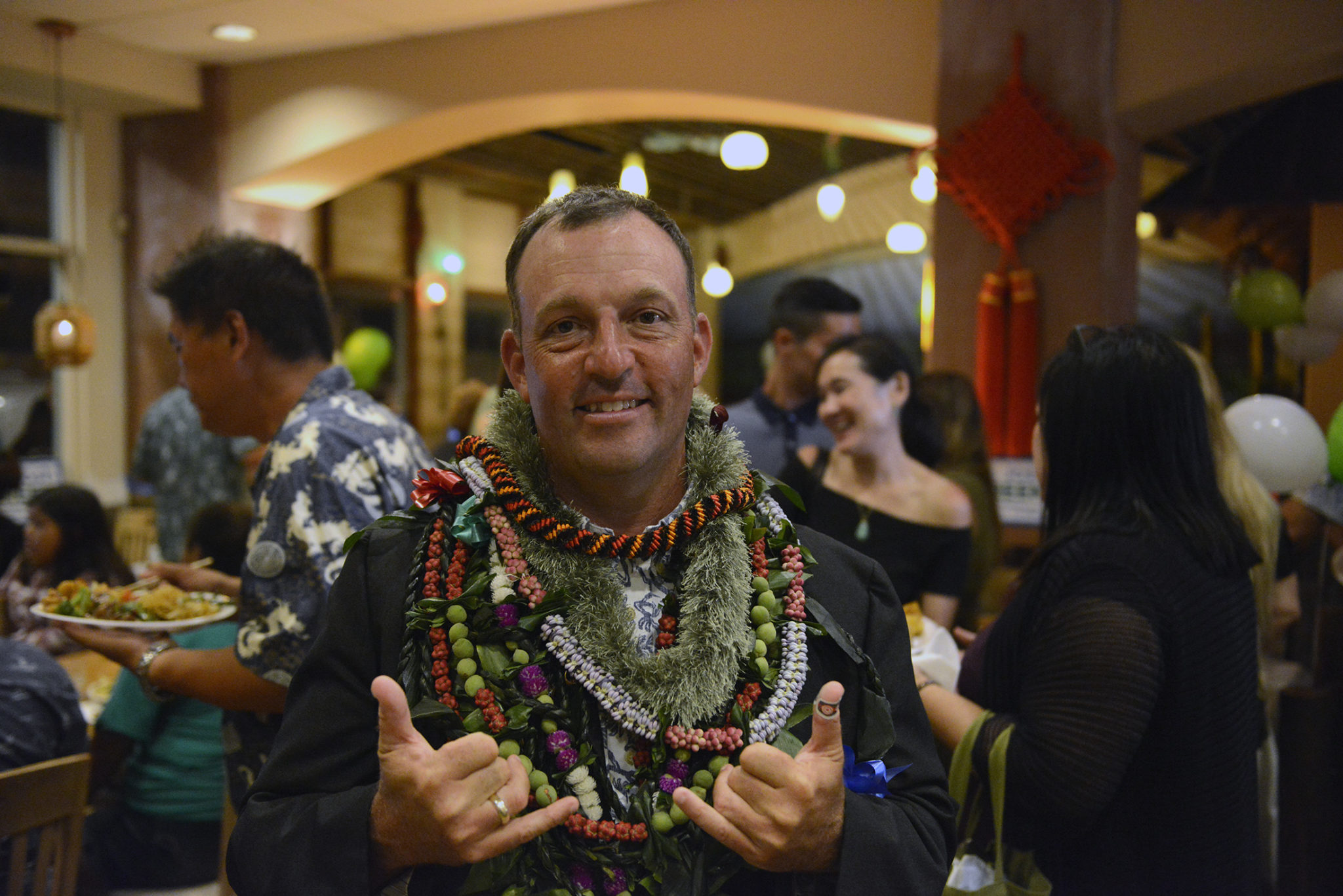 <p>After additional results are released, Green flashes shakas and a smile, even though his lead over state Sen. Jill Tokuda was not insurmountable.</p>