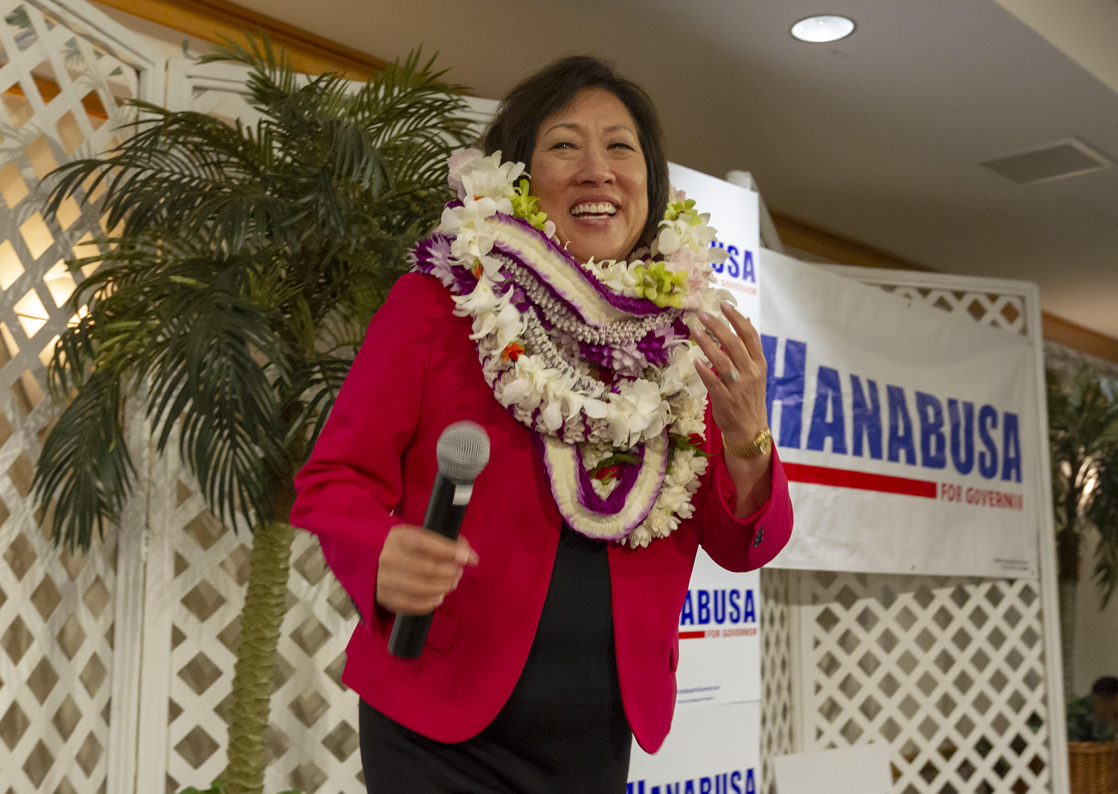 <p>Congresswoman Colleen Hanabusa thanks her supporters and concedes the gubernatorial primary race to Ige.</p>