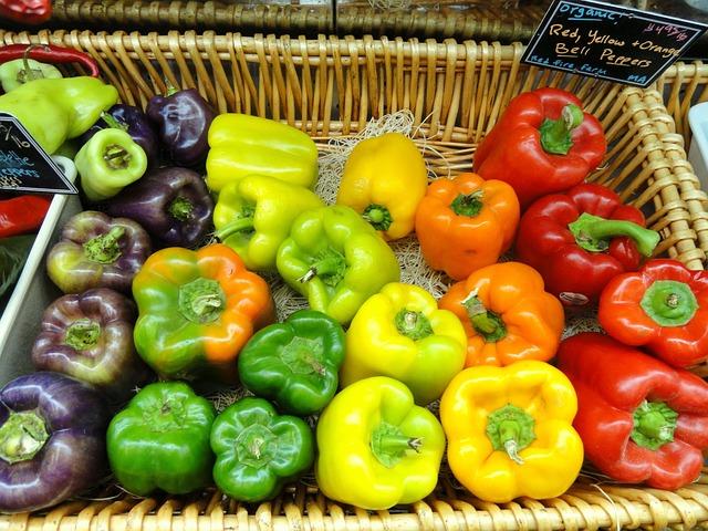 Public domain farmers market peppers