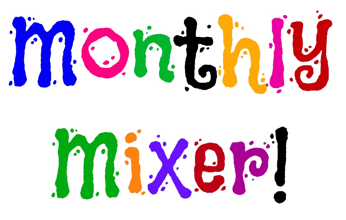 Public domain monthly mixer logo