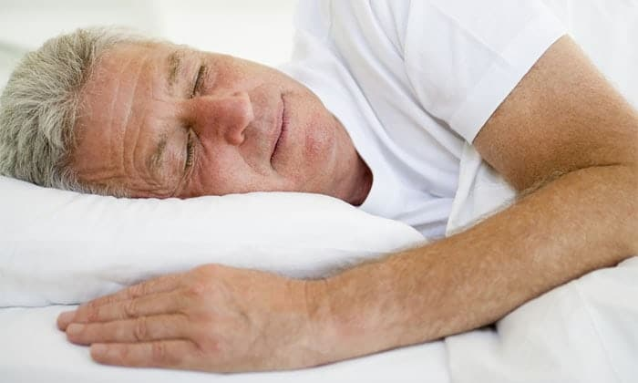 Man sleeping happily