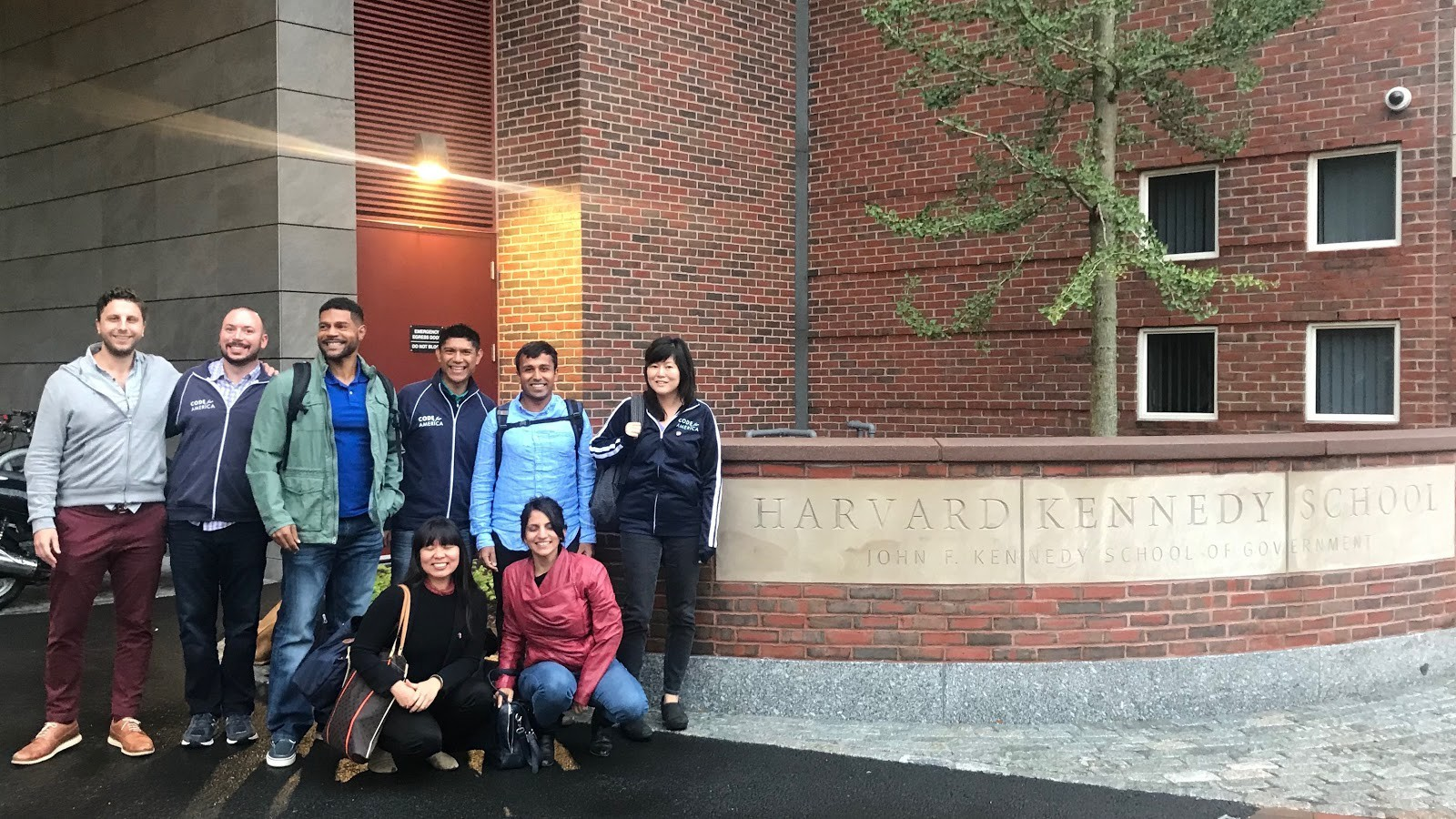 <p>The 2018 Fellows (minus one!) at Harvard Kennedy School of Business's Public Interest Technology Summit</p>