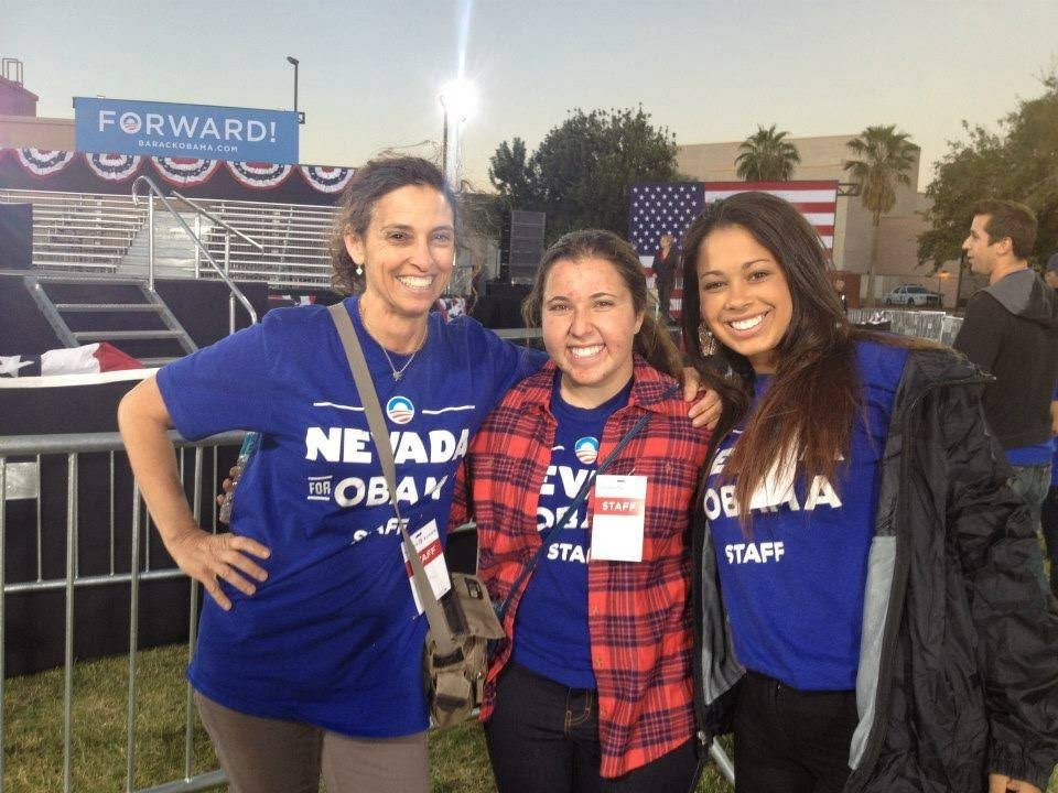 <p>Organizing staff at a 2012 Campaign Rally in Nevada</p>