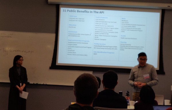 <p>Song Hia and Kimberly Peng of NYC Opportunity show some (very early) details of the benefits screening API.</p>