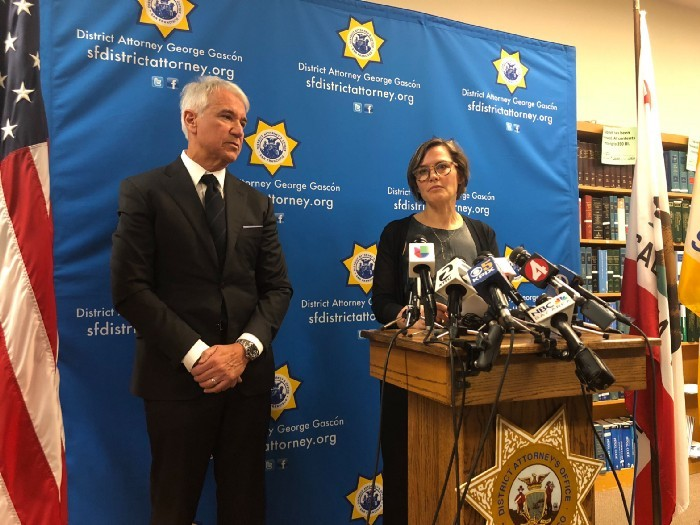 <p>San Francisco District Attorney George Gascón and Code for America founder Jennifer Pahlka announce the clearance of over 8,000 marijuana convictions through the automatic record clearance pilot</p>