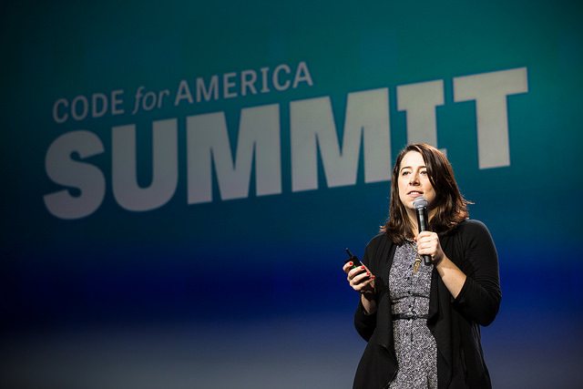 <p>Erie Meyer at 2015 Code for America Summit.</p>