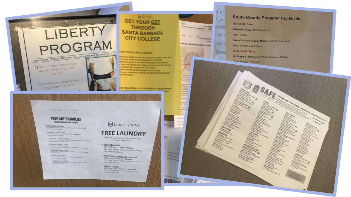 Pictures of flyers in the county probation office
