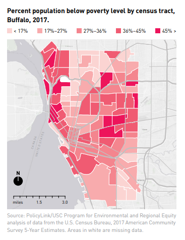 <p>Percent population below poverty level by census tract, Buffalo, 2017.<br /></p>