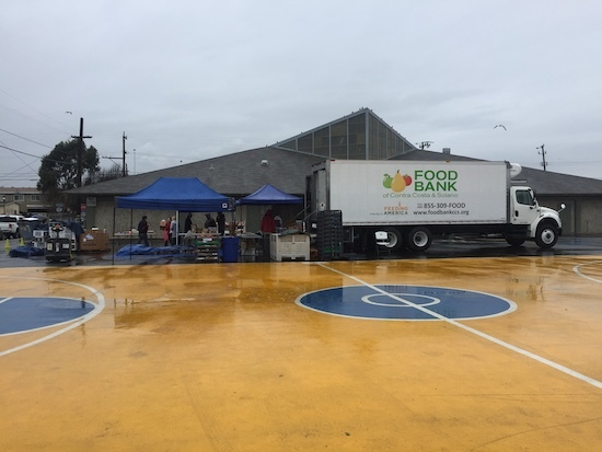 food bank distribution truck