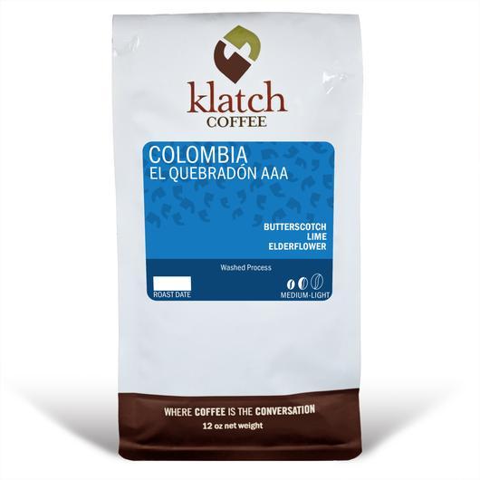 Klatch Coffee Colombia El Quebradon AAA