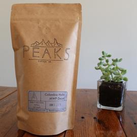 Peaks Coffee Co Colombia Sugarcane Decaf