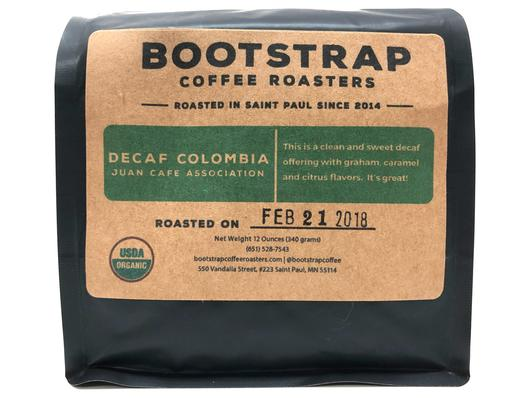 Bootstrap Coffee Roasters Decaf Colombia Juan Cafe Association MWP