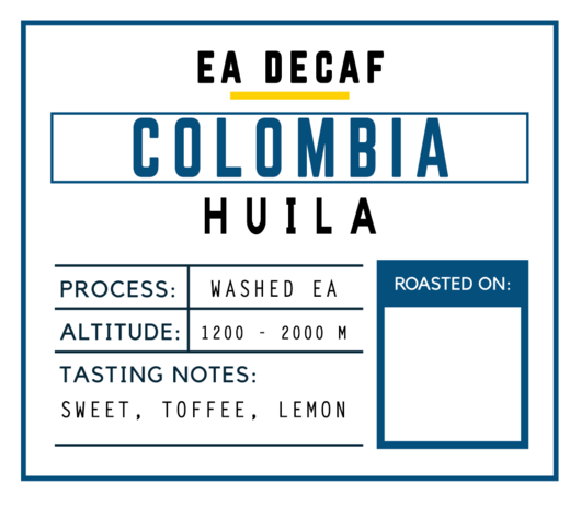 Brugh Coffee Colombia Sugarcane Decaf