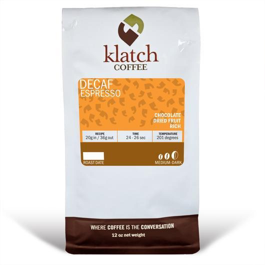Klatch Coffee Decaf Espresso Blend
