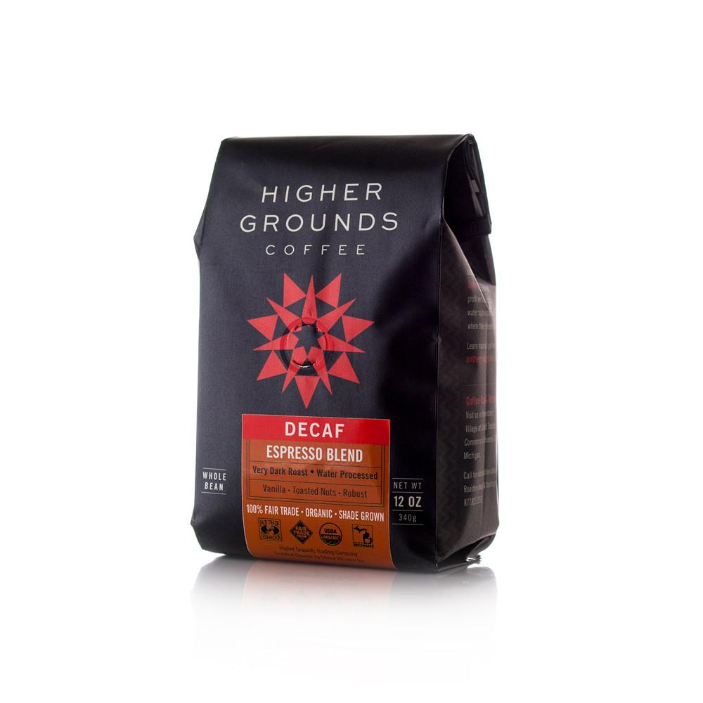 Higher Grounds Trading Company Decaf Espresso Blend SWP